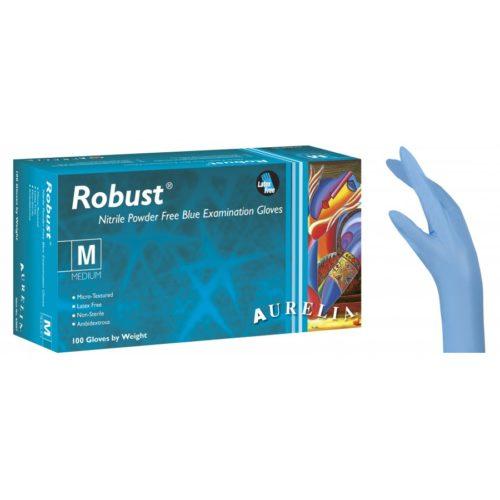 Εξεταστικά γάντια μπλε νιτριλίου (χωρίς latex) χωρίς πούδρα